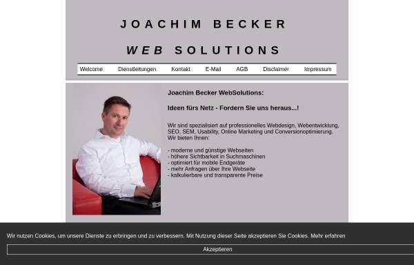 Vorschau von www.joachim-becker-websolutions.de, Joachim Becker WebSolutions