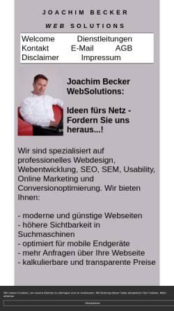 Vorschau der mobilen Webseite www.joachim-becker-websolutions.de, Joachim Becker WebSolutions