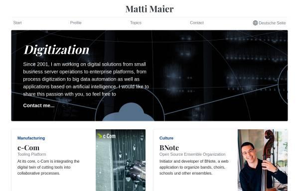 Vorschau von www.mattimaier.de, Matti Maier Internet Solutions
