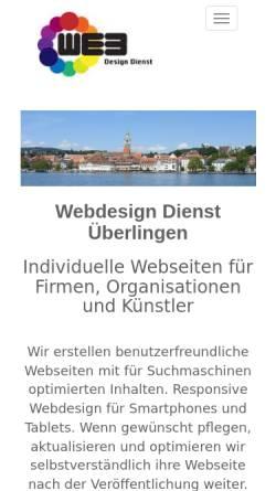 Vorschau der mobilen Webseite www.webdesign-dienst.de, Webdesign Dienst