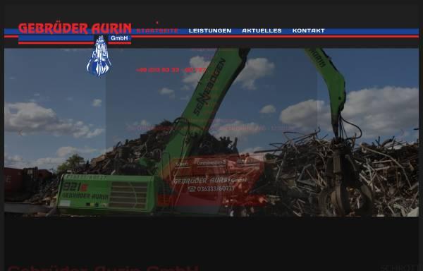 Vorschau von www.gebrueder-aurin.de, Gebrüder Aurin GmbH