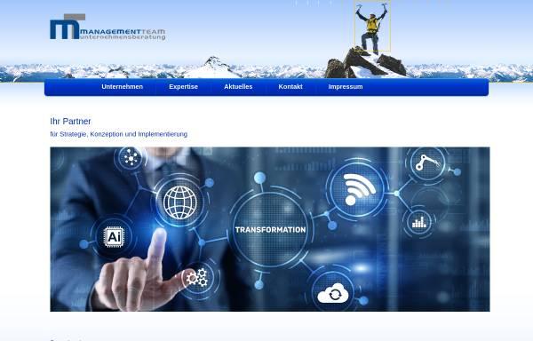 Vorschau von www.managementteam.de, ManagementTeam Bölscher, Holzer & Partner