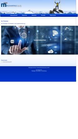 Vorschau der mobilen Webseite www.managementteam.de, ManagementTeam Bölscher, Holzer & Partner