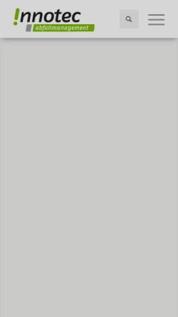 Vorschau der mobilen Webseite www.innotec-abfallmanagement.de, Innotec Abfall-Management GmbH