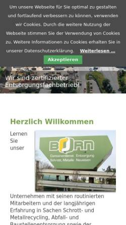 Vorschau der mobilen Webseite www.born-recycling.de, Karl Born GmbH & Co. KG