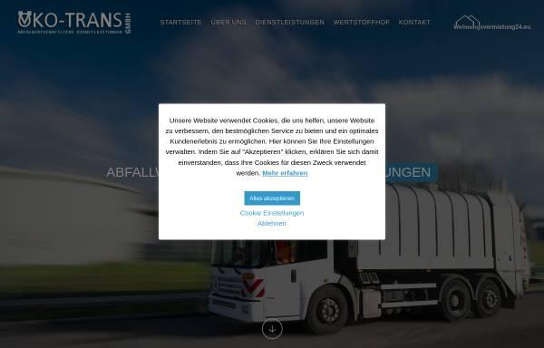 Vorschau von www.oeko-trans.de, Öko-Trans GmbH