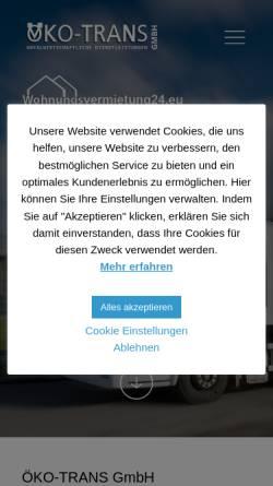 Vorschau der mobilen Webseite www.oeko-trans.de, Öko-Trans GmbH