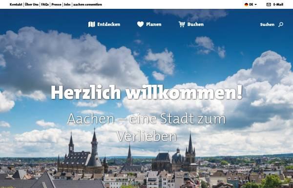 Vorschau von www.aachen-tourismus.de, Touristisches Portal der Stadt Aachen