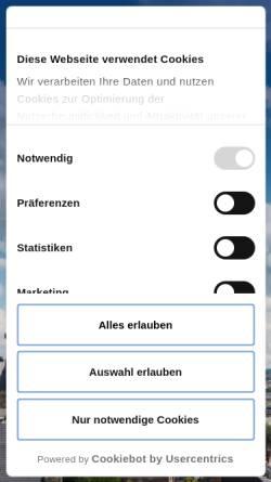 Vorschau der mobilen Webseite www.aachen-tourismus.de, Touristisches Portal der Stadt Aachen