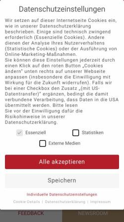 Vorschau der mobilen Webseite www.spielbank-berlin.de, Spielbank Berlin - Gustav Jaenecke GmbH & Co.