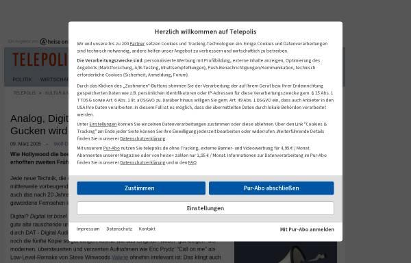 Vorschau von www.heise.de, Analog, Digital - sch...egal, Hauptsache TV-Gucken wird illegal!