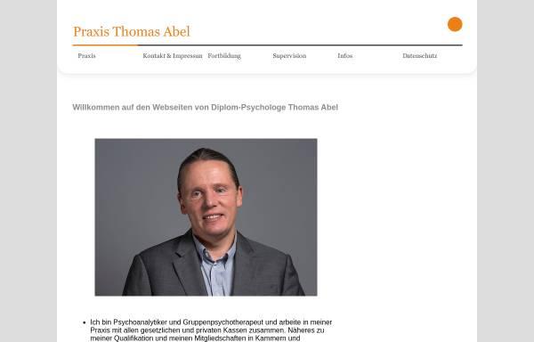 Vorschau von www.praxis-abel.de, Abel, Thomas: Diplom-Psychologe - Praxis für Psychotherapie und Psychoanalyse