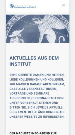 Vorschau der mobilen Webseite www.bpi-psa.de, Berliner Psychoanalytisches Institut (BPI)