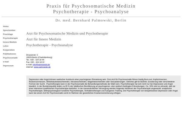 Vorschau von www.palmowski.de, Dr. med. Bernhard Palmowski, Facharztpraxis