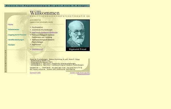 Vorschau von www.analytischekoerperpsychotherapie.de, Dr. phil. Krüger