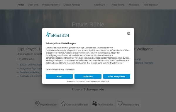 Vorschau von www.praxisruehle.de, Gemeinschaftspraxis Hedda und Wolfgang Rühle (HPG)