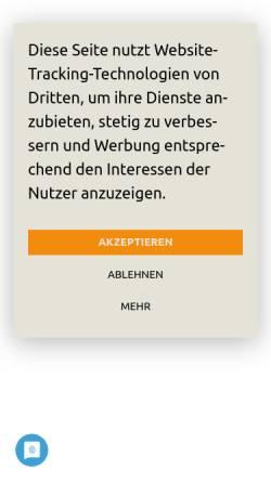 Vorschau der mobilen Webseite www.linkerhand.de, Linkshänderberatung - Marina Neumann