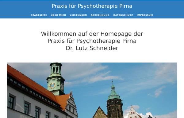Vorschau von www.psychotherapie-schneider.de, Praxis für ärztliche Psychotherapie - Dr. Lutz Schneider