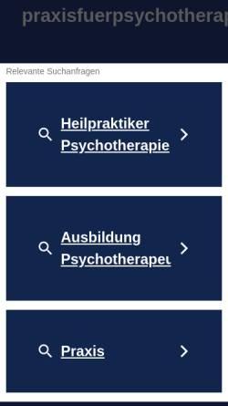 Vorschau der mobilen Webseite www.praxisfuerpsychotherapieberlin.de, Praxis für Psychotherapie Berlin (HPG)