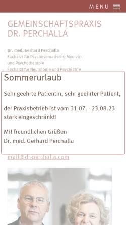 Vorschau der mobilen Webseite www.dr-perchalla.com, Tiefenpsychologisch fundierte Psychotherapie - Dr. med. Gerhard Perchalla