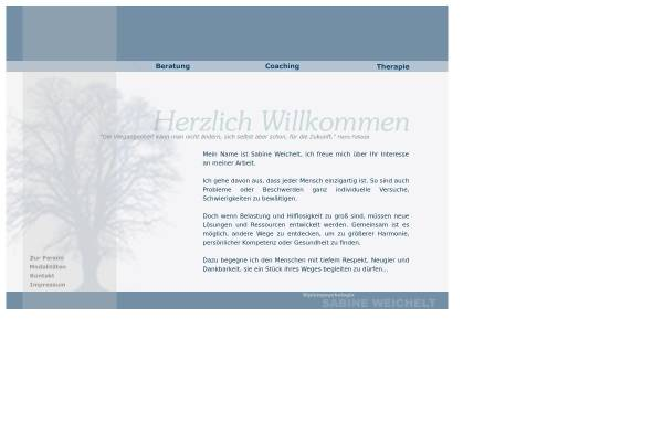 Vorschau von www.sabine-weichelt.de, Praxis für Psychotherapie, Beratung & Coaching - Sabine Weichelt