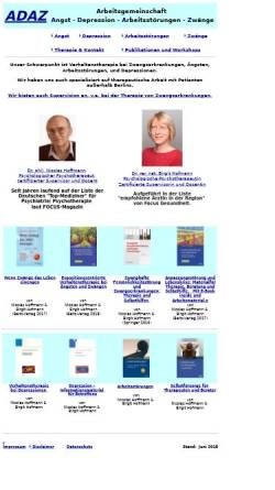 Vorschau der mobilen Webseite www.agadaz.de, Verhaltenstherapie - Dr. rer. nat. Birgit Hofmann, Dr. phil. Pia Engl & Dr. phil. Nicolas Hoffmann