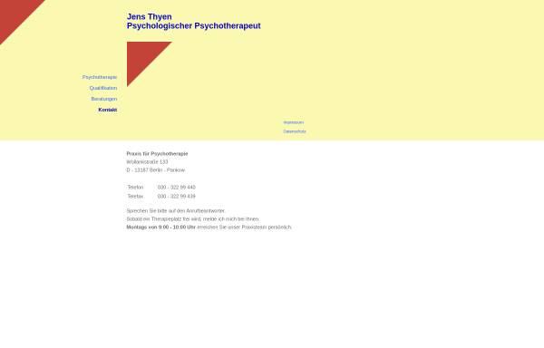 Vorschau von www.diplompsychologe-thyen.de, Verhaltenstherapie - Jens Thyen