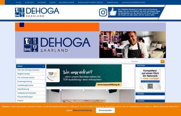 Vorschau von www.dehogasaar.de, Dehoga Deutscher Hotel- und Gaststättenverband e.V.