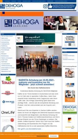 Vorschau der mobilen Webseite www.dehogasaar.de, Dehoga Deutscher Hotel- und Gaststättenverband e.V.