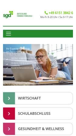 Vorschau der mobilen Webseite www.klett-akademie.ch, Klett Akademie