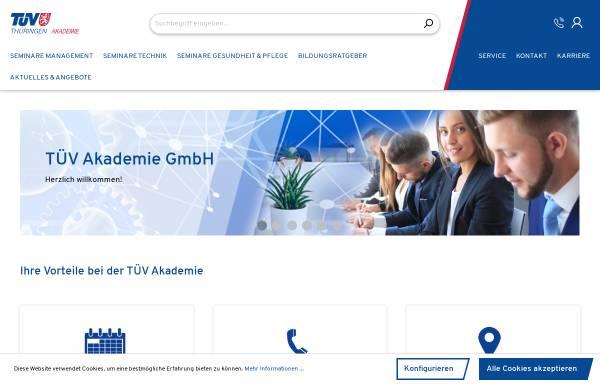 Vorschau von www.die-tuev-akademie.de, TÜV Akademie GmbH