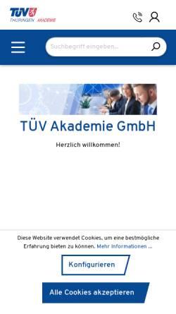 Vorschau der mobilen Webseite www.die-tuev-akademie.de, TÜV Akademie GmbH