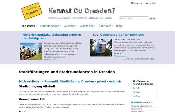 Vorschau von www.kennst-du-dresden.de, Stadtführer