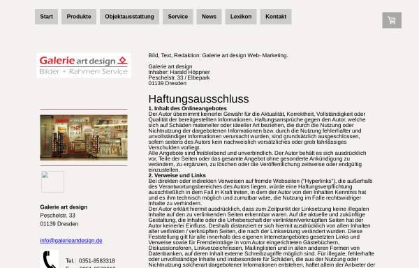 Vorschau von www.galerieartdesign.de, Dresden-Bilder