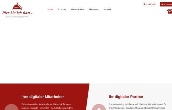 Vorschau von www.hierbinichgast.de, Gastronomie- und Hotelführer
