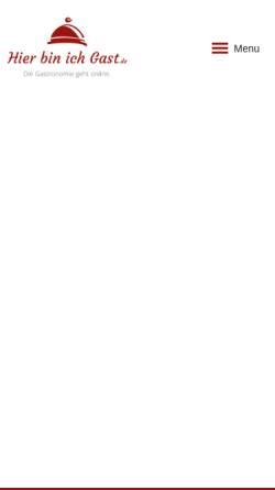 Vorschau der mobilen Webseite www.hierbinichgast.de, Gastronomie- und Hotelführer