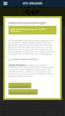 Vorschau der mobilen Webseite wtc-dresden.de, World Trade Center