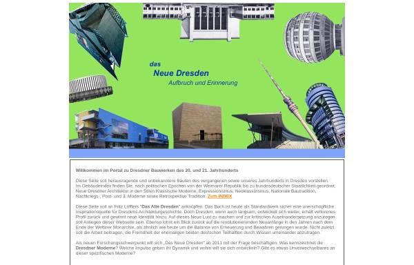 Vorschau von www.das-neue-dresden.de, Zeitgenössische Architektur