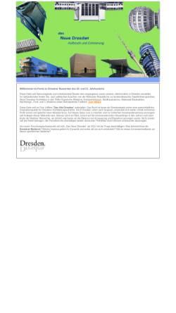 Vorschau der mobilen Webseite www.das-neue-dresden.de, Zeitgenössische Architektur