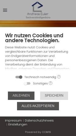 Vorschau der mobilen Webseite www.euler.biz, Euler, Andreas