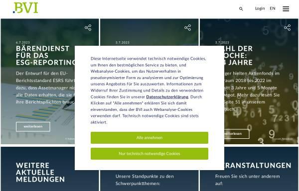 Vorschau von www.bvi.de, Bundesverband Investment und Asset Management e.V.