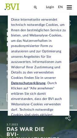 Vorschau der mobilen Webseite www.bvi.de, Bundesverband Investment und Asset Management e.V.