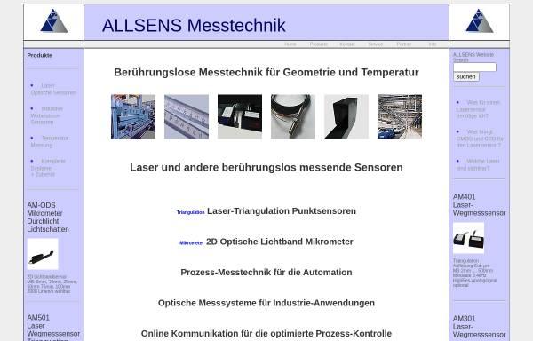 Vorschau von www.allsens.de, Allsens Messtechnik - Dipl.-Phys. Gabriele Jelling