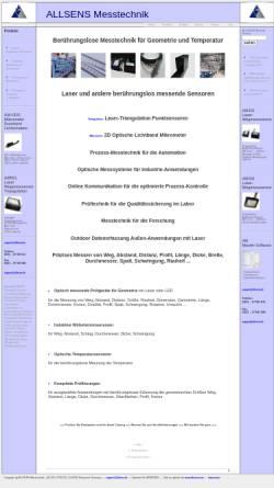 Vorschau der mobilen Webseite www.allsens.de, Allsens Messtechnik - Dipl.-Phys. Gabriele Jelling