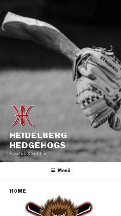 Vorschau der mobilen Webseite www.heidelberg-hedgehogs.de, Heidelberg Hedgehogs