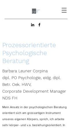 Vorschau der mobilen Webseite www.blu-beratung.ch, BLU - Barbara Leuner Unternehmensentwicklung