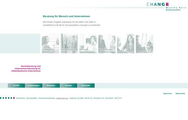 Vorschau von ra-born.com, Change - Management Beratung Rechtsanwältin Monika Born