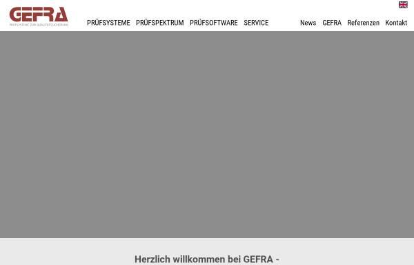 Vorschau von www.gefragmbh.de, GEFRA GmbH