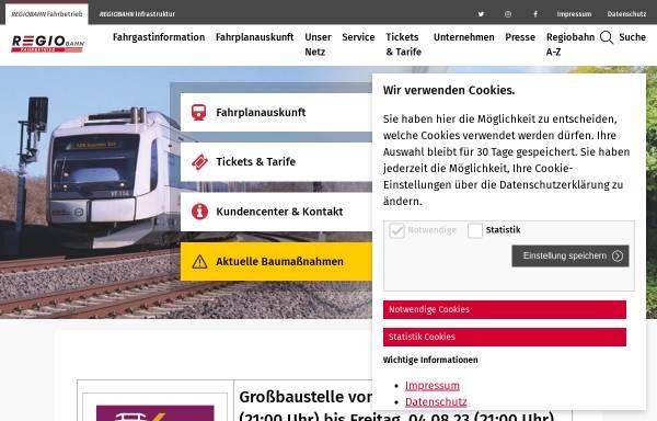 Vorschau von www.regio-bahn.de, Regiobahn mbH