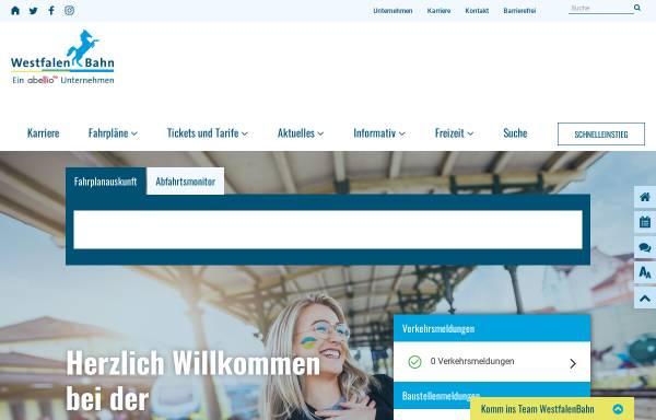 Vorschau von www.westfalenbahn.de, WestfalenBahn GmbH